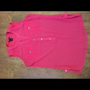 Hot pink sheer Nue Option top sz Petite Small